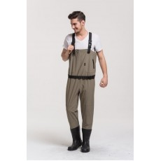 High quality waterproof fishing waders Breathable wader with Rubber boot